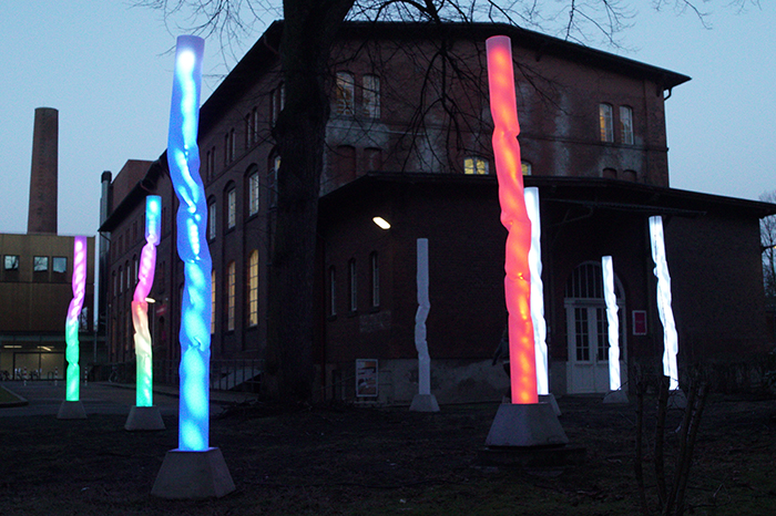 Light Trees: This Interactive Installation Lights Up When It Detects Human Energy