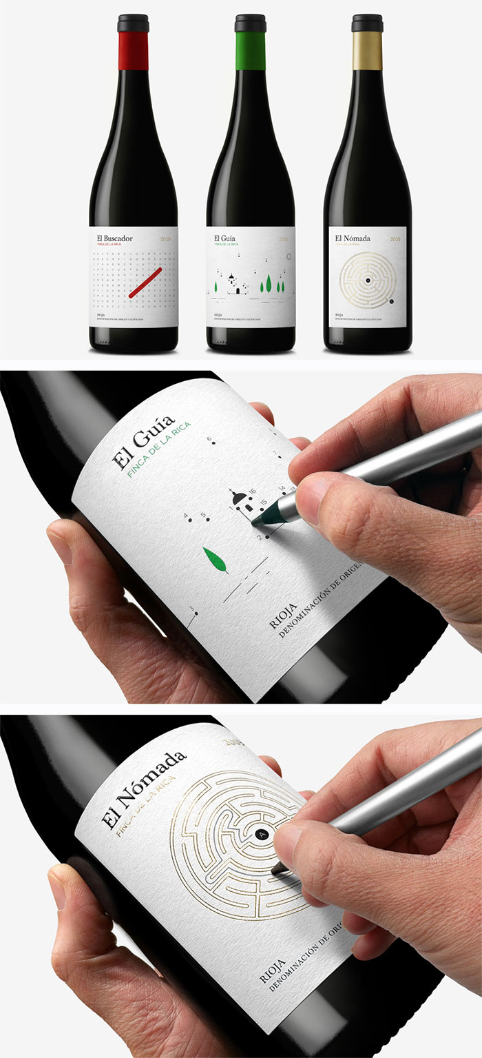 Interactive Wine Bottle Designs