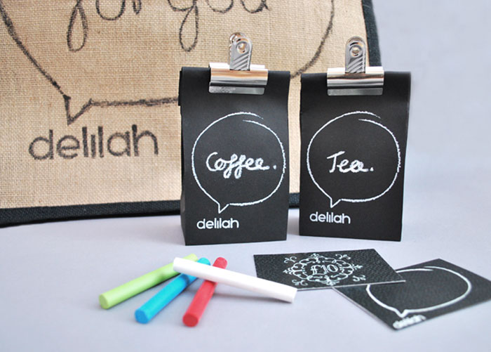 Chalk Tea And Coffee Packaging
