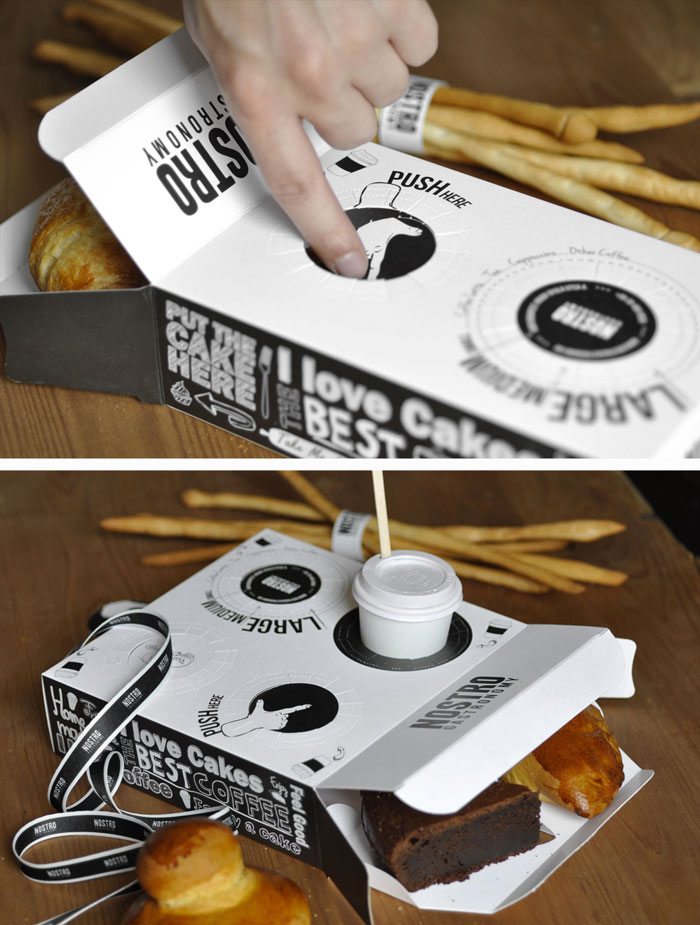 Pastry Box With A Place For Your Coffee
