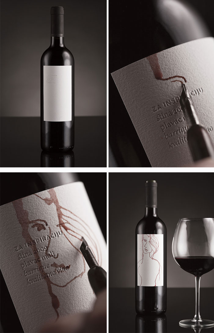 Wine Label That You Can Draw On With Wine