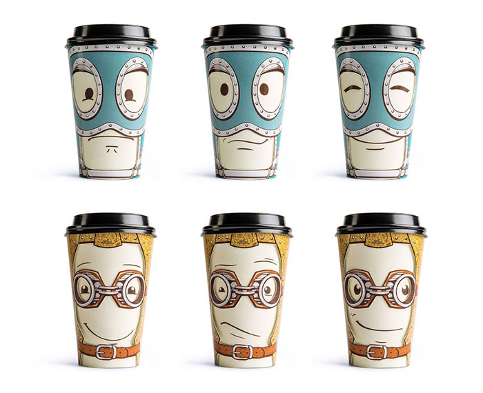 Playful Turning Coffee Cup Design