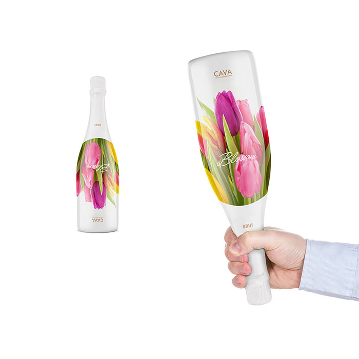 Bottle That Can Also Be Used As A Bouquet Of Flowers