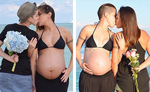 Lesbian Couple's Side-By-Side Pregnancy Photos Encourage LGBT Couples To Start Families