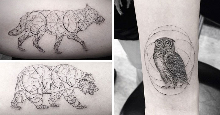 Geometric Tattoos By Dr. Woo Who's Been Experimenting With Ink Since He Was 13