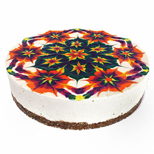 Hypnotizing Mandala Cakes Made Of Raw Vegan Ingredients