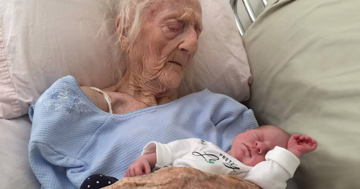 101 year old meets newborn great granddaughter before dying days