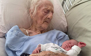 101-Year-Old Meets Newborn Great-Granddaughter Before Dying Days Later