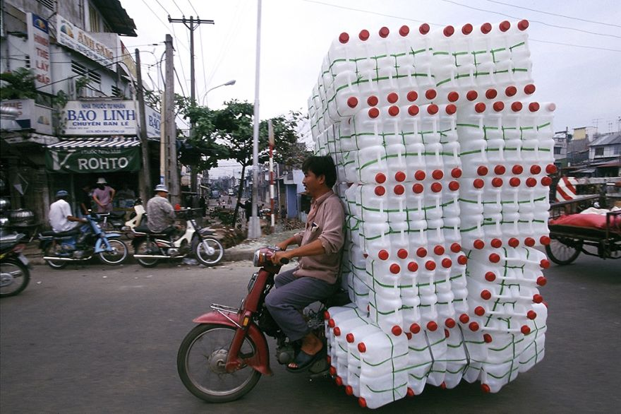 Motorcycle With Plastic Bottles