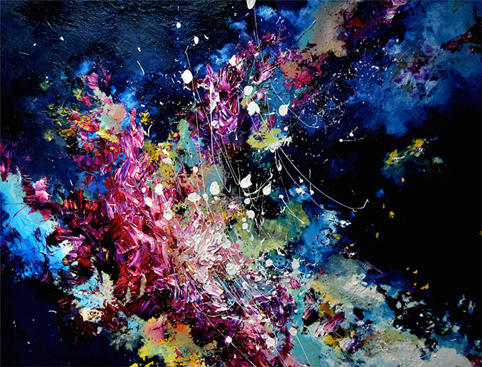 I See Music Because I Have Synesthesia, So I Decided To Paint What I Hear