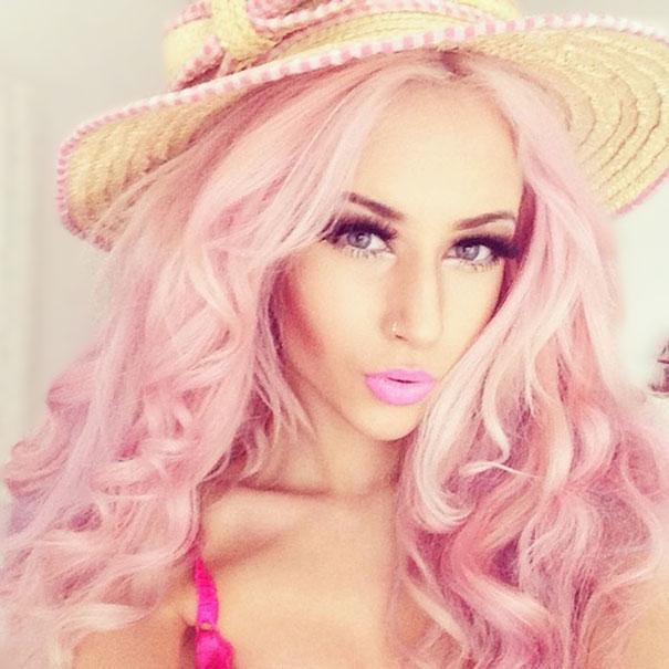 Noul Trend Fashion Părul Vopsit Curcubeu în Culori Pastelate