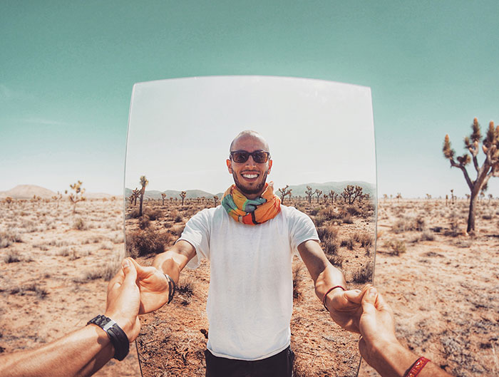 Desert Reflections: A Series Of Surreal Self-portraits In Joshua Tree