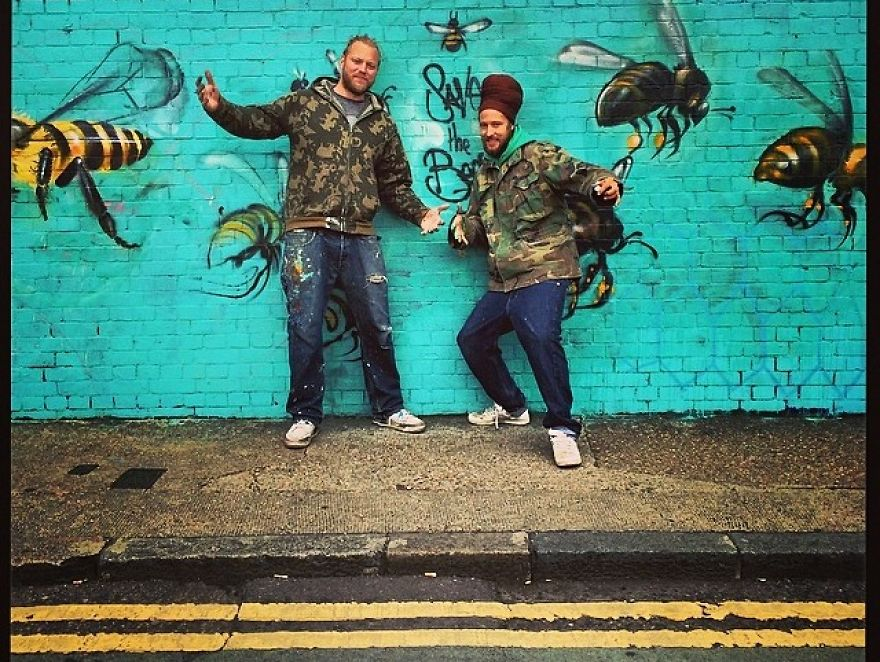 Save The Bees: I Painted London Streets With Bee Murals To Raise Awareness About Colony Collapse Disorder