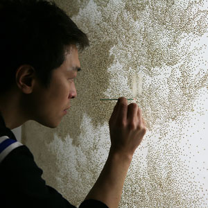 Artist Burns Holes In Paper With Incense Sticks To Create Amazing Art