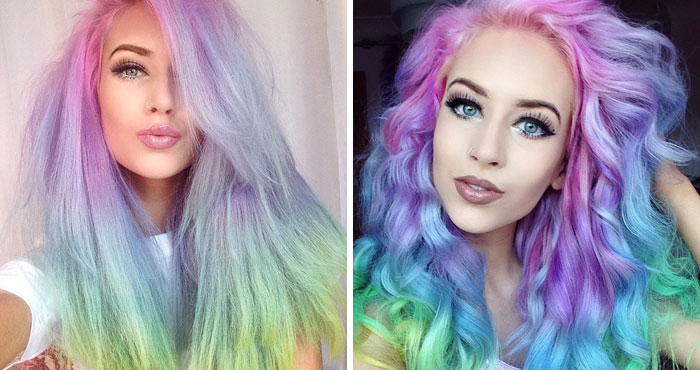 Rainbow Pastel Hair Is A New Trend Among Women