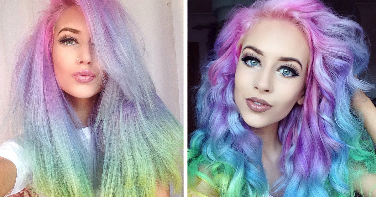 HOW TO GET RAINBOW HAIR TUTORIAL IN SHORT HAIR