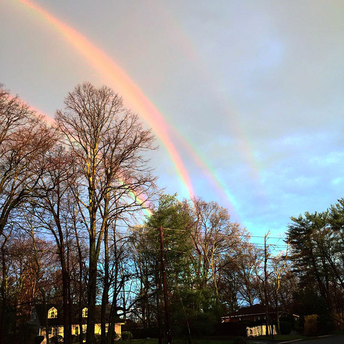 Extremely Rare Quadruple Rainbow Captured Over New York
