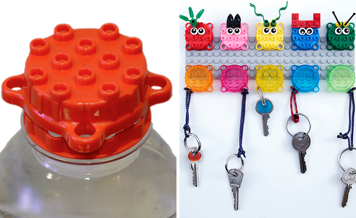 These Fun Reusable Bottle Caps Can Be Used Just Like LEGO Bricks