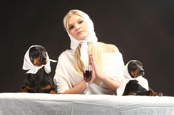 """""""last Dinner"""" By Dachshunds And Owner Skaiva"""