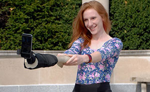 Selfie Stick Disguised As Hand To Make It Look Like You Have Friends