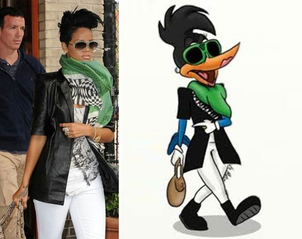 Rihanna And Duck