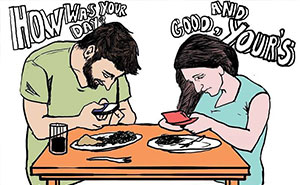 Death Of Conversation: 22+ Images Of How Smartphones Take Over Our Lives