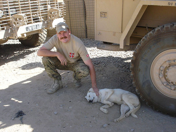 Me, In Afghanistan With A Friendly Pooch