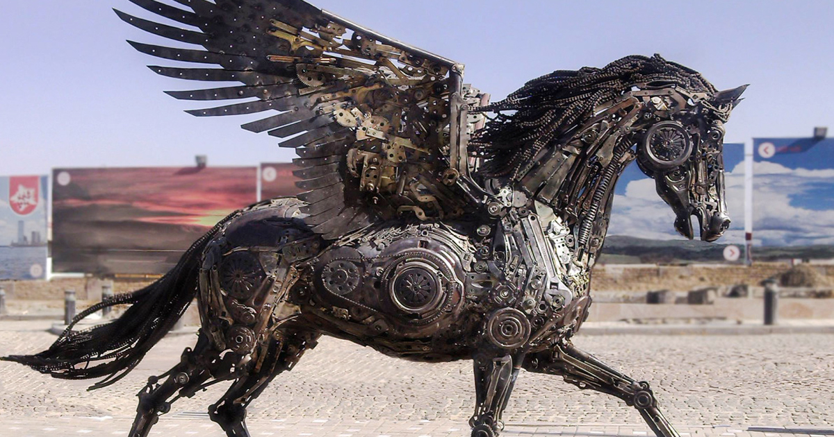 steampunk animal sculptures made of scrap metal by hasan novrozi bored panda. Black Bedroom Furniture Sets. Home Design Ideas