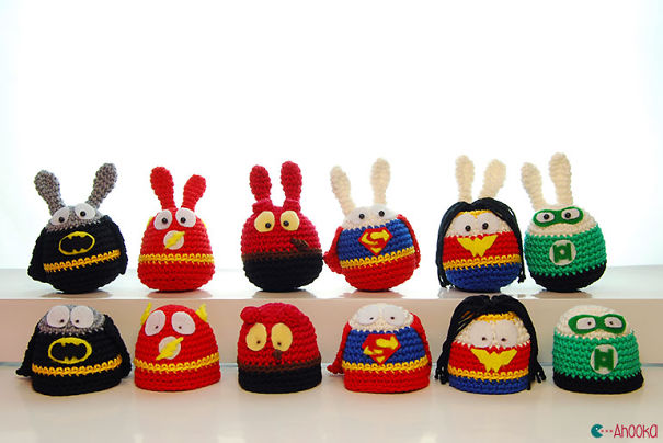 Easter Superheroes Crocheted Eggs By Ahooka