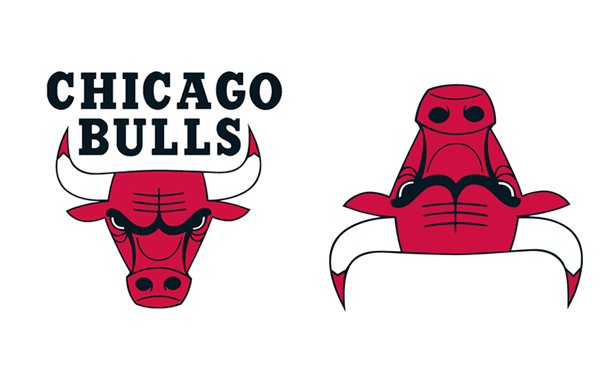 If You Flip The Bulls' Logo Upside Down, It Looks Like A Robot Reading A Book