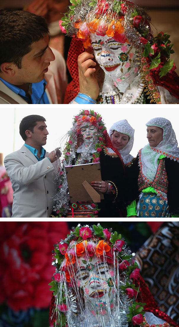 Traditional Bride In Ribnovo Region In Southwest Bulgaria