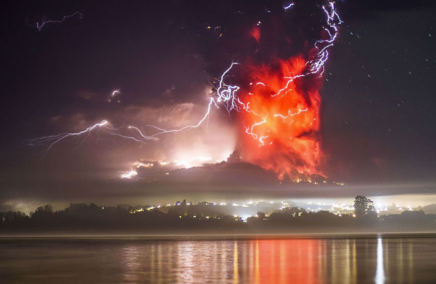 Erupção do vulcão Calbuco In, Chile