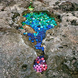 Artist Creates Art From Trash That Washes Up In Mexico From 50 Countries Around The World