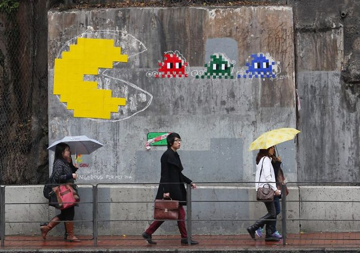 Space Invaders: Street Art In Hong Kong
