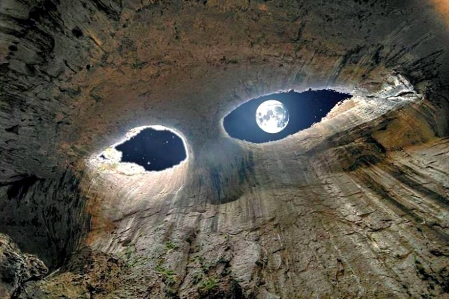 Eyes Of The Devil - Prohodna Cave In Bulgaria
