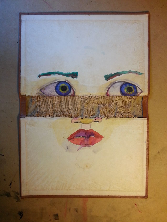Old Book Covers As Canvases