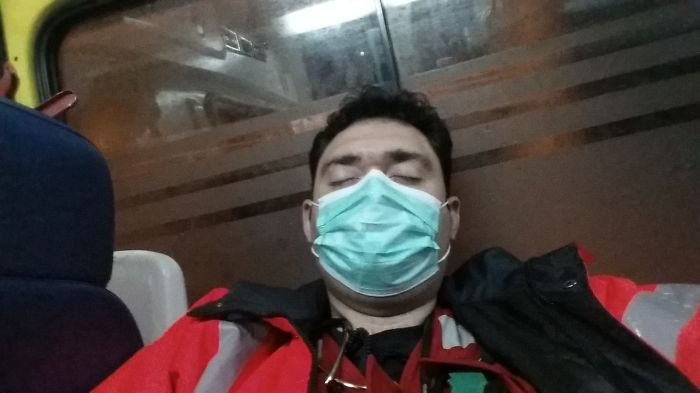Inside The Ambulance Returning To Base Camp After A Succesful Management Of A Cardiac Arrest…