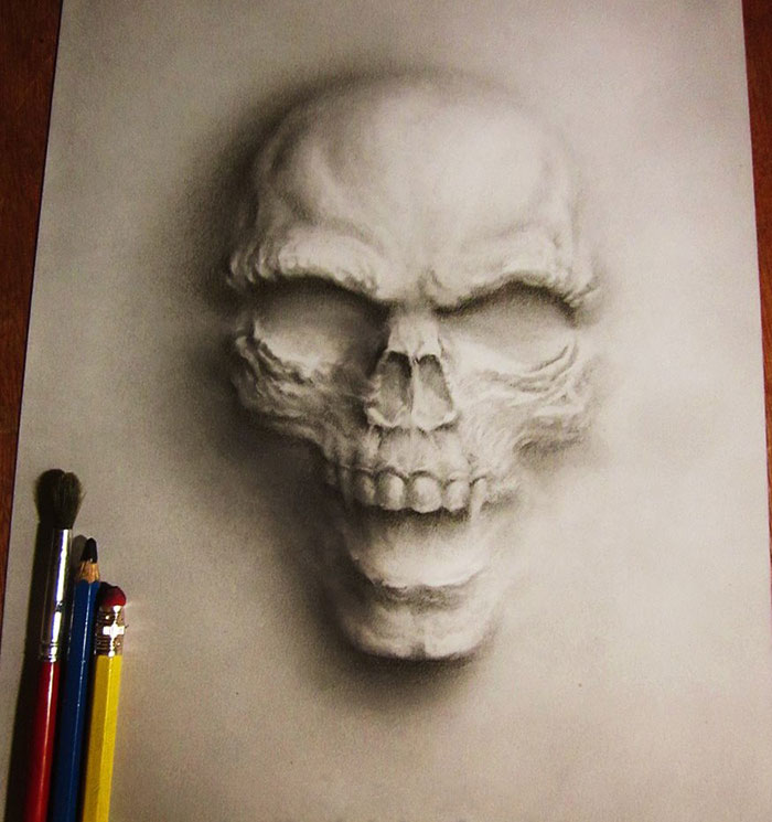 how to draw 3d art with pencil