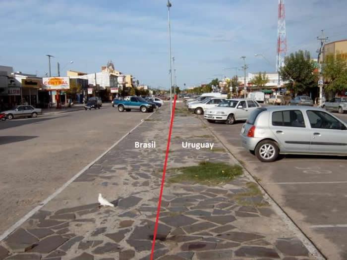Chui, Uruguay - Brazil Border