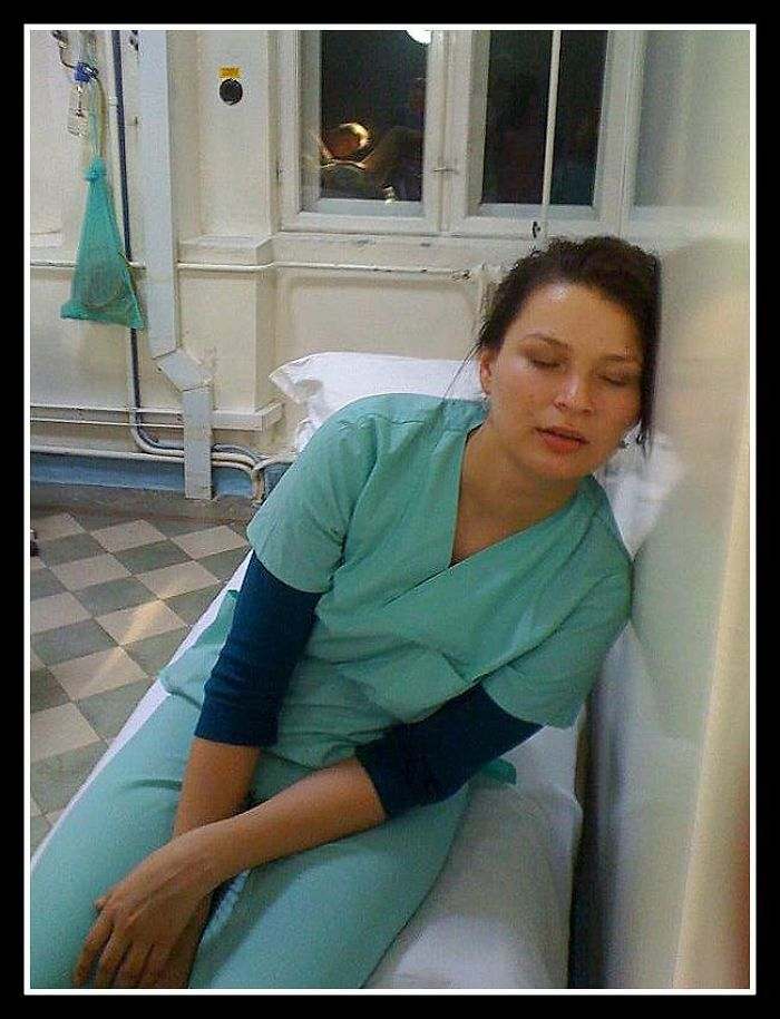 After A Hard Birth :) Midwife Sleeping :))