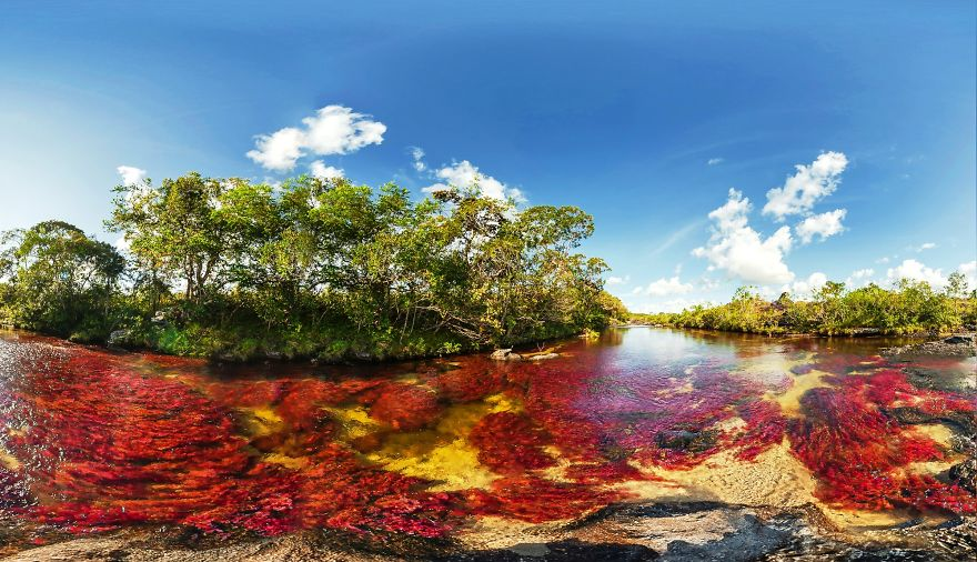Caño Cristales Five Colours River At Serranía De La Macarena, Colombia