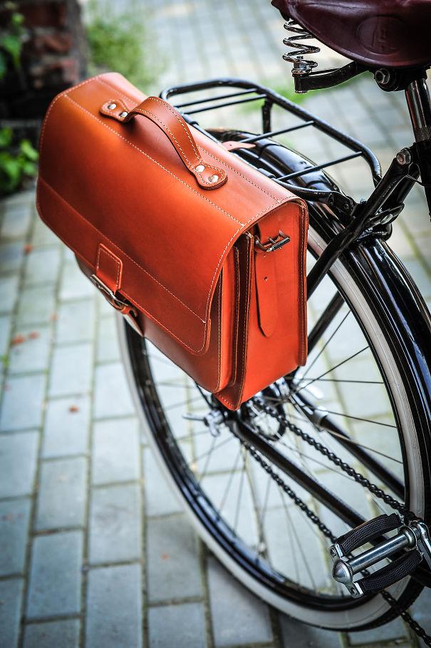 Leather Pannier & Classic Briefcase