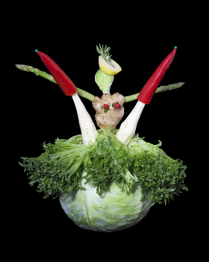 Lettuce Art: My Sculptures Made Completely Out Of Vegetables