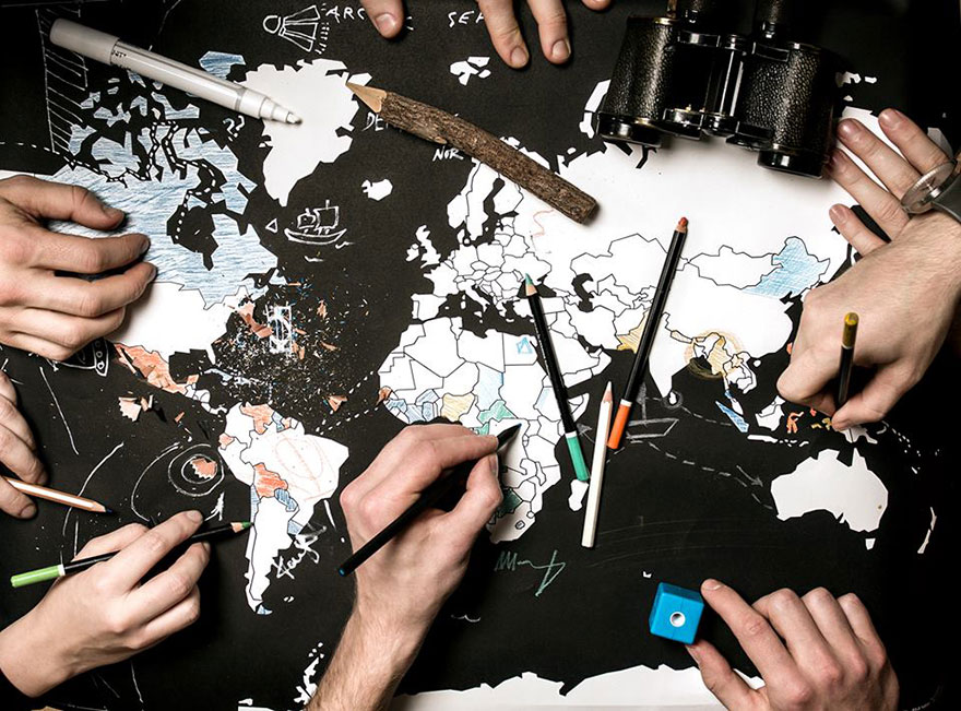 Minimalist World Map Helps Keep Track Of Countries Youve Visited – World Map To Track Your Travels