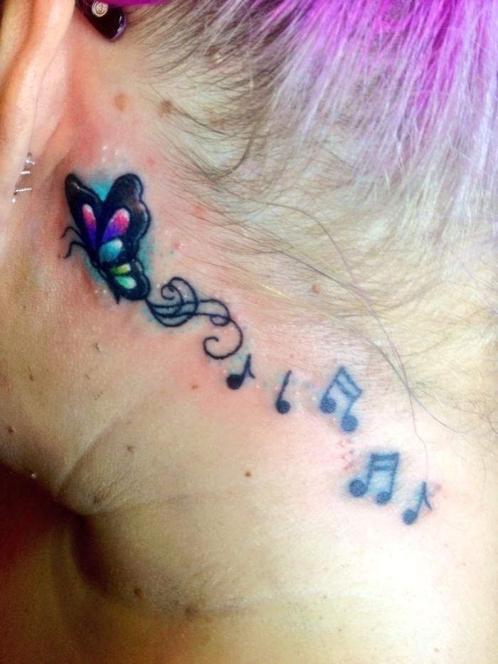 Behind Ear Tattoo :)
