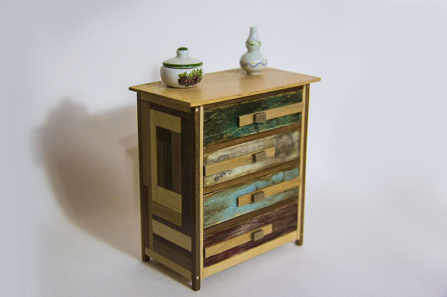 Miniatures Furniture Made Of Reclaimed Wood