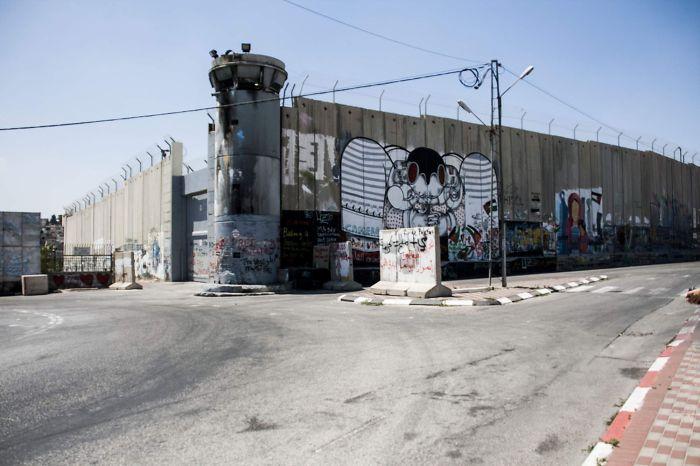 Israel - Palestine Border In Bethlehem