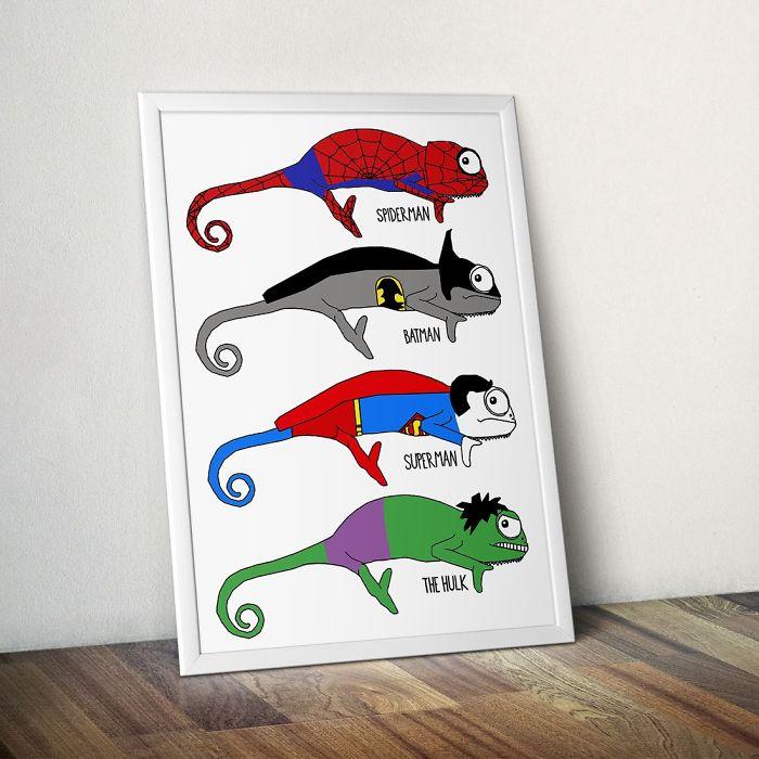 Illustrator Jazz Hutchison Gets Creative With Chameleons