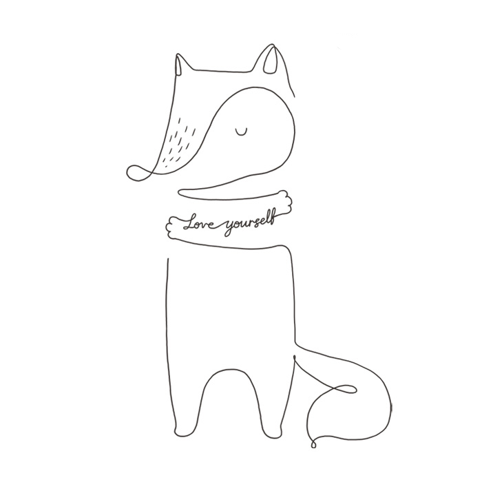 Line Art Yourself : Simple line art to remind you love yourself more every