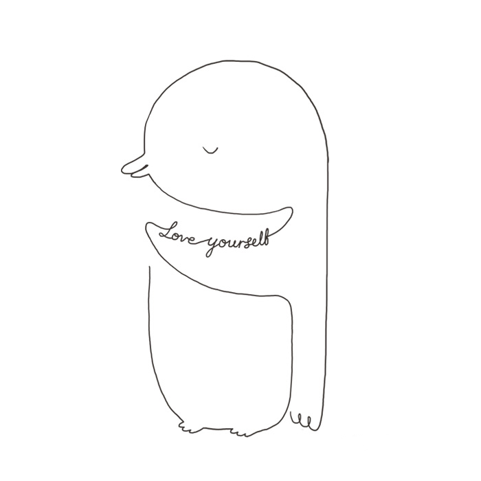 Line Drawing Of Yourself : Simple line art to remind you love yourself more every